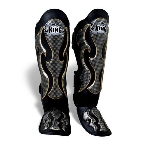 Top King Shin Guards Empower - Muay Thai Black