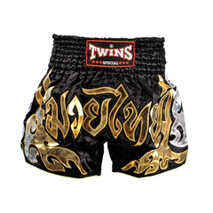 Twins Muay Thai Shorts Black Gold - The Fight Factory