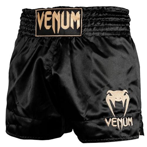 Venum Classic Muay Thai Shorts Black/Gold - The Fight Factory