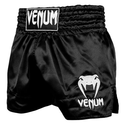 Venum Classic Muay Thai Shorts Black/White - The Fight Factory