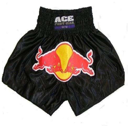 Ace Red Bull Muay Thai Shorts - The Fight Factory