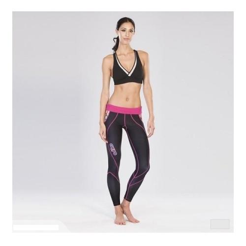 Grips Womens Long Athletic Leggings Flower Power - The Fight Factory