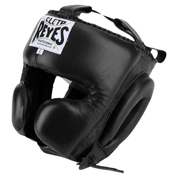 Cleto Reyes Boxing Closed Face Headgear Black - The Fight Factory