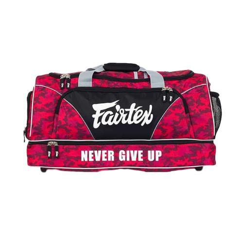 Fairtex Gym Bag - Red Camo Bag2 - The Fight Factory