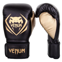 Venum Boxing Gloves Contender Black Gold - The Fight Factory
