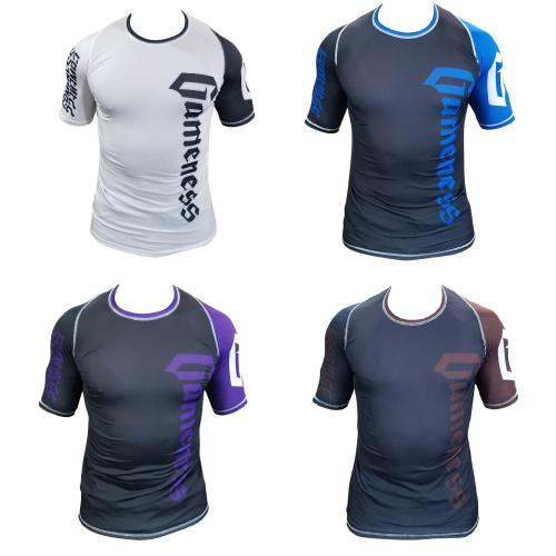 Gameness Pro Ranked Rash Guards Short Sleeve