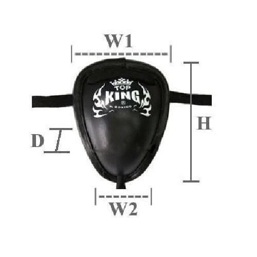 Top King Groin Protector-Black - The Fight Factory