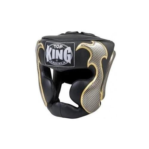Top King Head Guard Empower - Muay Thai Boxing Black - The Fight Factory