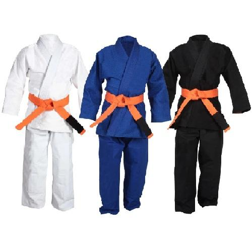 Ace Kids Judo Bjj Gi Black, Blue and White