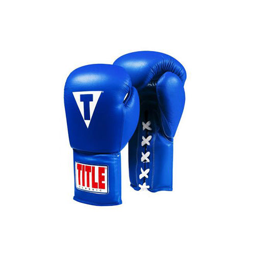 Title Classic Leather Lace Boxing Gloves 2.0 - The Fight Factory
