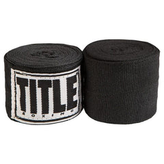 """Title Mexican Style 180"""" Boxing Hand Wraps Black"""