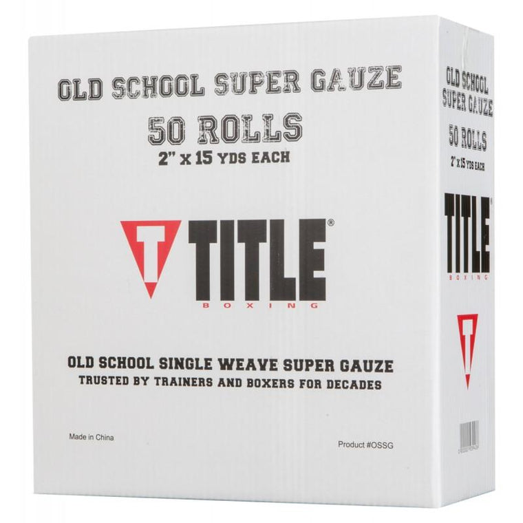Title Boxing Old School Single Weave Super Gauze