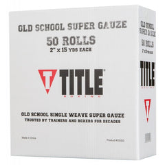 Title Boxing Old School Single Weave Super Gauze - The Fight Factory