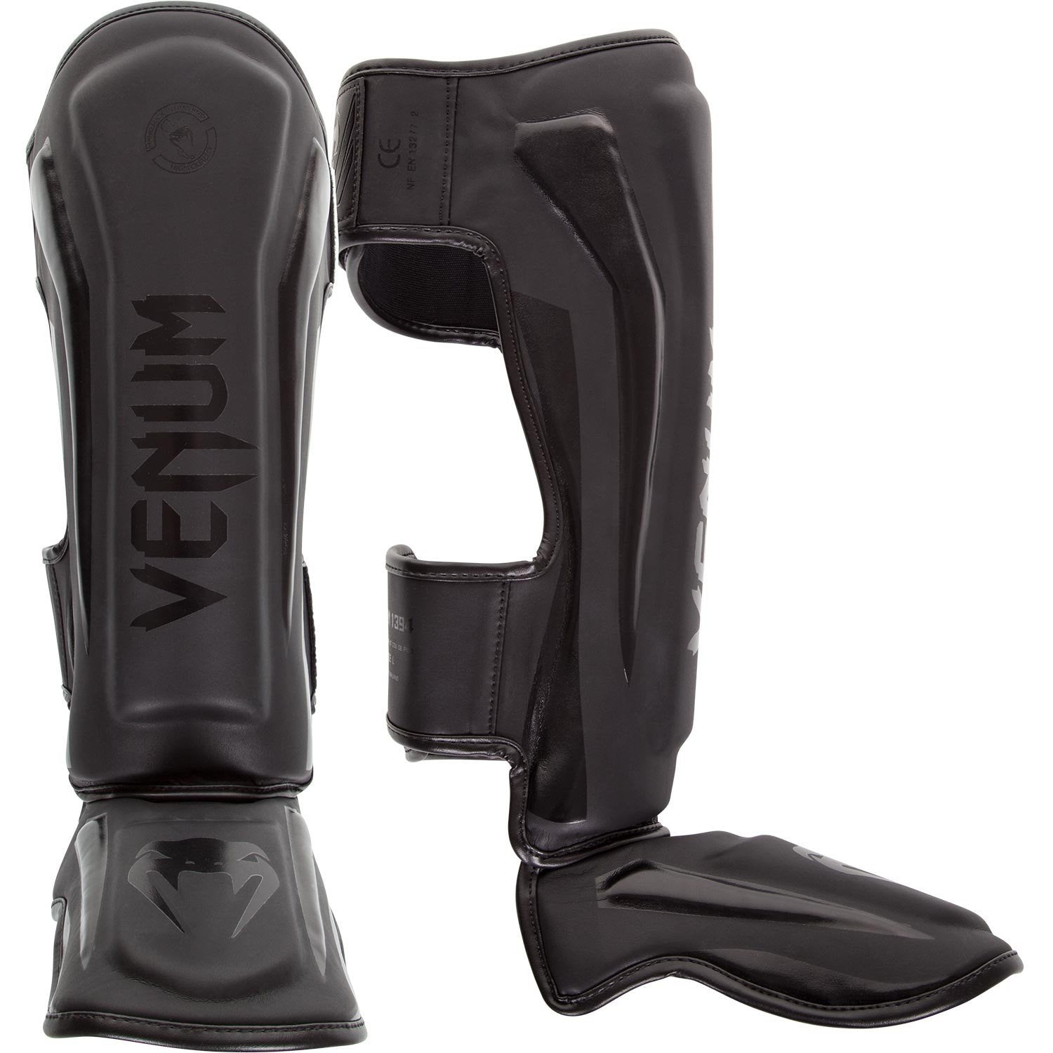 Venum Elite Standup Shinguards Matt Black