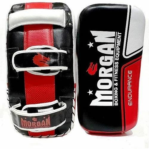 Morgan Thai Pads Curved Endurance Gel Leather Pair - The Fight Factory