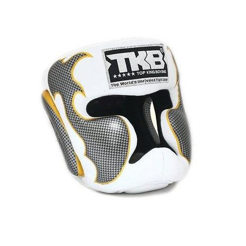 Top King Head Guard Empower - Muay Thai Boxing White - The Fight Factory