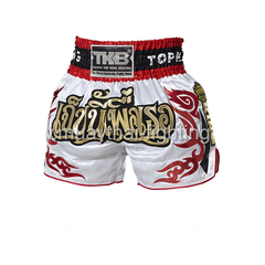 Top King Shorts White Jeb Ni Pheu Ter - The Fight Factory