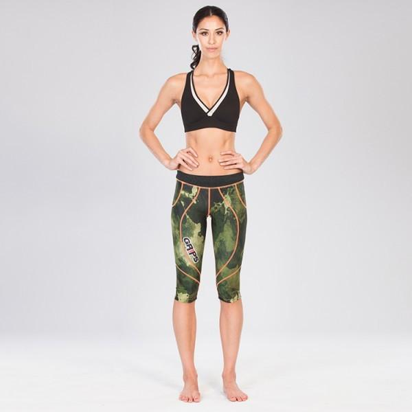 Grips Short Athletic Leggings Green Camo - The Fight Factory