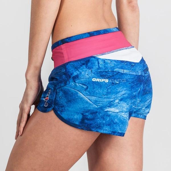 Grips Womens Functional Training Shorts Blue Magma - The Fight Factory