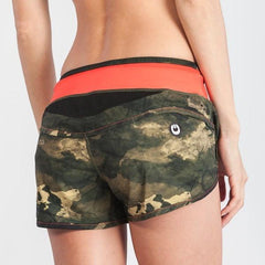 Grips Womens Funtional Training Shorts Green Camo - The Fight Factory