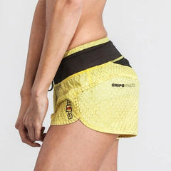 Grips Womens Functional Training Shorts Yellow Dragon - The Fight Factory