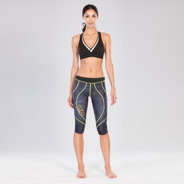 Grips Womens Short Athletic Leggings Grey Magma - The Fight Factory
