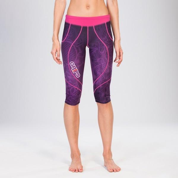 Grips Womens Short Athletic Leggings Purple Spring - The Fight Factory