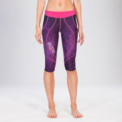 Grips Womens Short Athletic Leggings Purple Spring