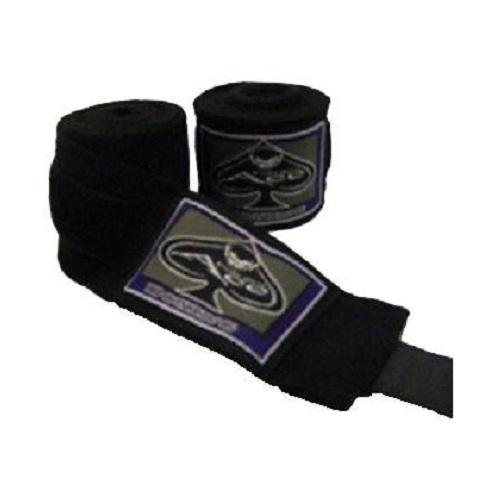 Ace Pro Boxing Hand Wraps Black - The Fight Factory