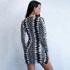 Y LABEL APPAREL: Aztec Deep Plunge Sequin Mini - Y LABEL APPAREL