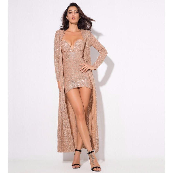 Y LABEL APPAREL: Champs Sequin Robe - Y LABEL APPAREL