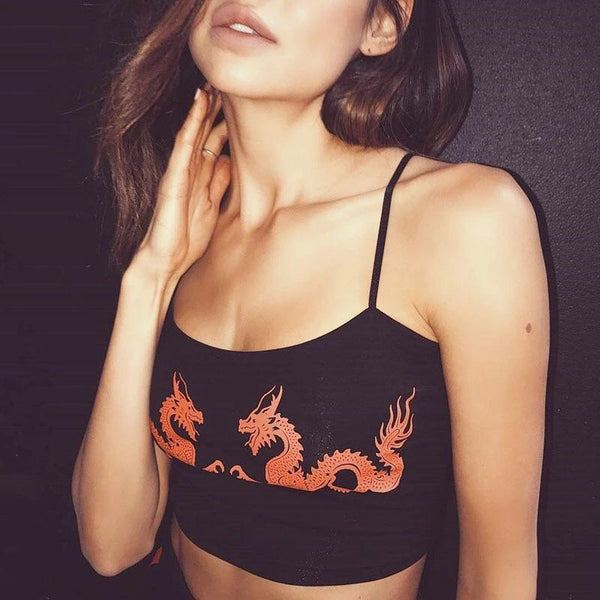 Y LABEL APPAREL: Dancing Dragons Tank Top - Y LABEL APPAREL
