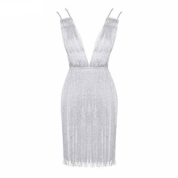 Y LABEL APPAREL: Diamond Girl Drop Tassel Dress - Y LABEL APPAREL