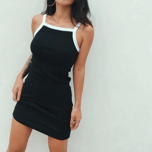 Y LABEL APPAREL: Endless Summer Ribbed Cotton Mini Dress - Y LABEL APPAREL