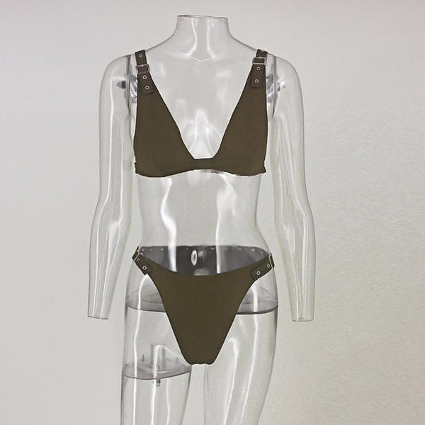 Y LABEL APPAREL: Fatima Two Piece Bikini Set - Y LABEL APPAREL
