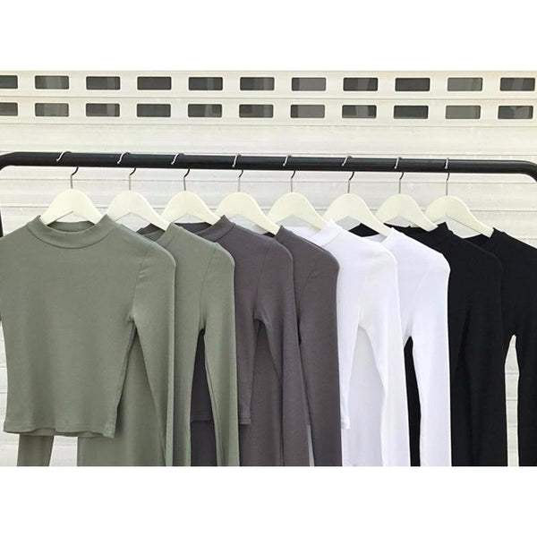 Y LABEL APPAREL: Fitted Solid Cotton Top - Y LABEL APPAREL