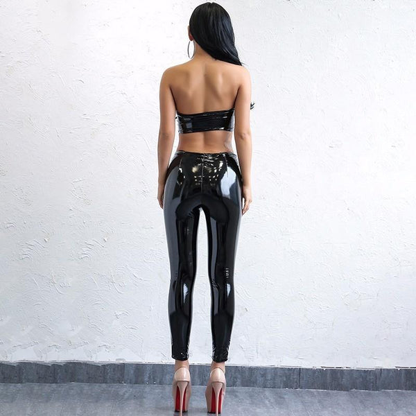 Y LABEL APPAREL: Galaxy Girl PVC Pant - Y LABEL APPAREL