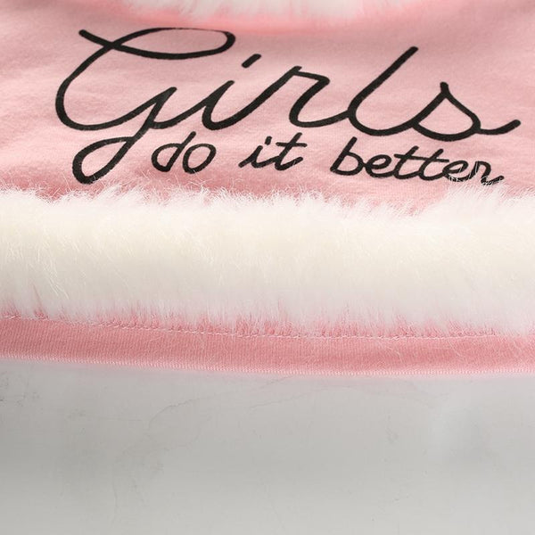 Y LABEL APPAREL: Girls Do It Better Faux Fur Cami - Y LABEL APPAREL