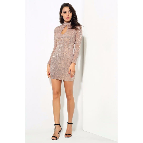 Y LABEL APPAREL: Giulia Champ Cut Out Dress - Y LABEL APPAREL