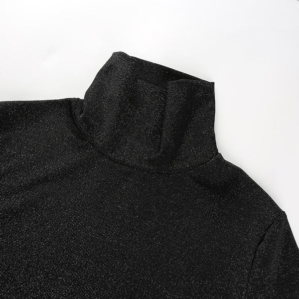 Y LABEL APPAREL: Glitter Longsleeve Bodysuit - Y LABEL APPAREL