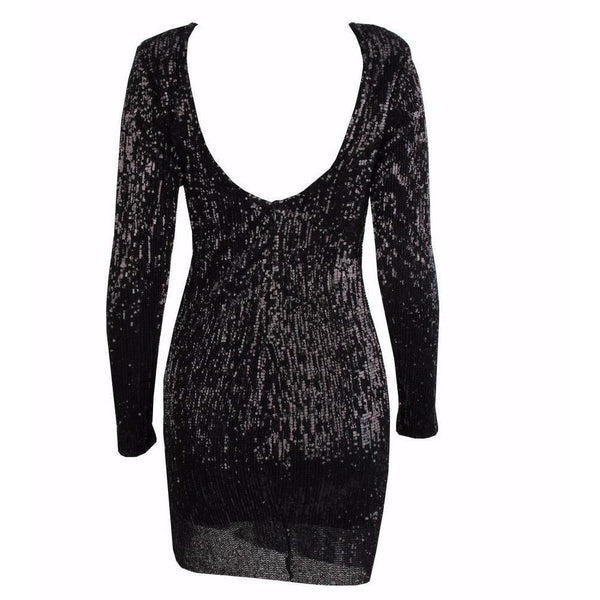 Y LABEL APPAREL: Glitz & Glam Sequin Mini Dress - Y LABEL APPAREL