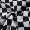 Y LABEL APPAREL: High Waist Checkered Windbreaker Trousers - Y LABEL APPAREL