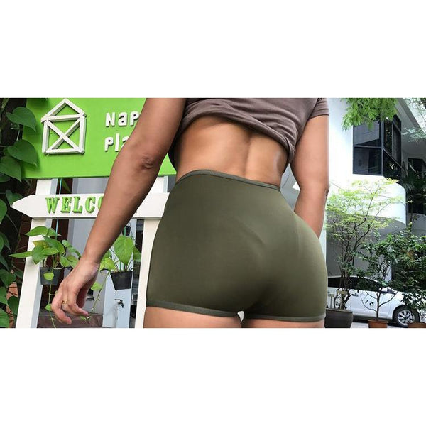 Y LABEL APPAREL: High Waisted Front Zip Shorts - Y LABEL APPAREL