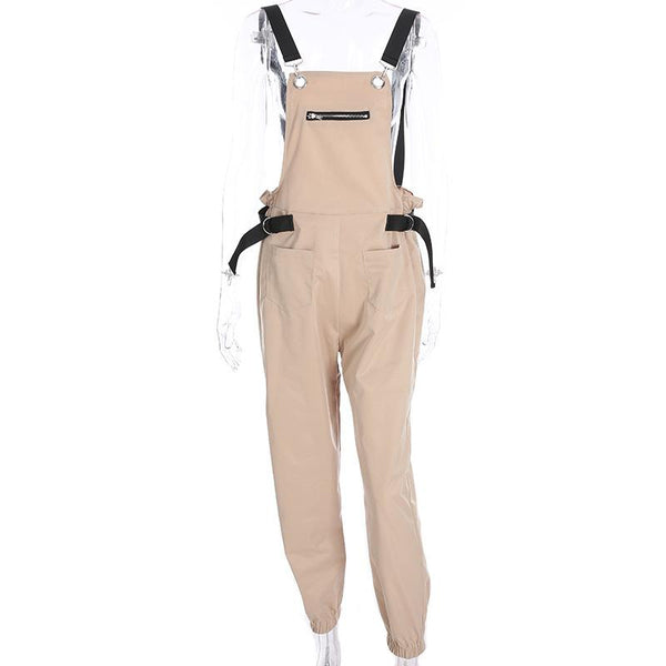 Y LABEL APPAREL: Jet Set Babe Overalls - Y LABEL APPAREL