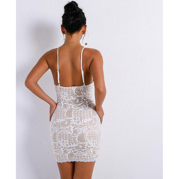 Y LABEL APPAREL: Love and Lace Mini Dress - Y LABEL APPAREL