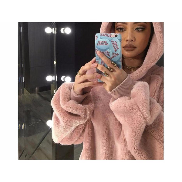 Y LABEL APPAREL: Oversized Fleece Hoodie - Y LABEL APPAREL
