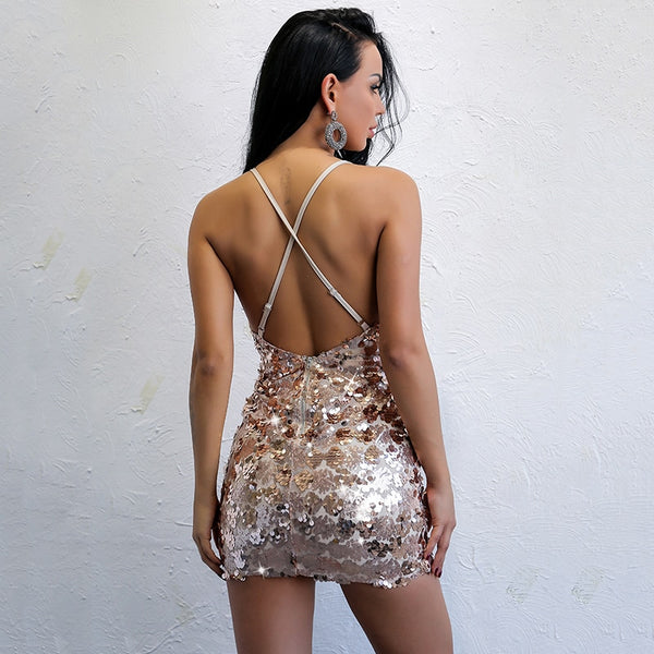 Y LABEL APPAREL: Epic Nights Sequin Mini - Y LABEL APPAREL