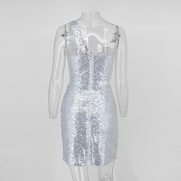 Y LABEL APPAREL: Ice Queen Sequin Mini - Y LABEL APPAREL