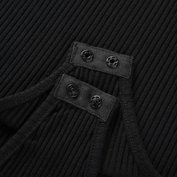 Y LABEL APPAREL: Cut You Off Turtleneck Bodysuit - Y LABEL APPAREL