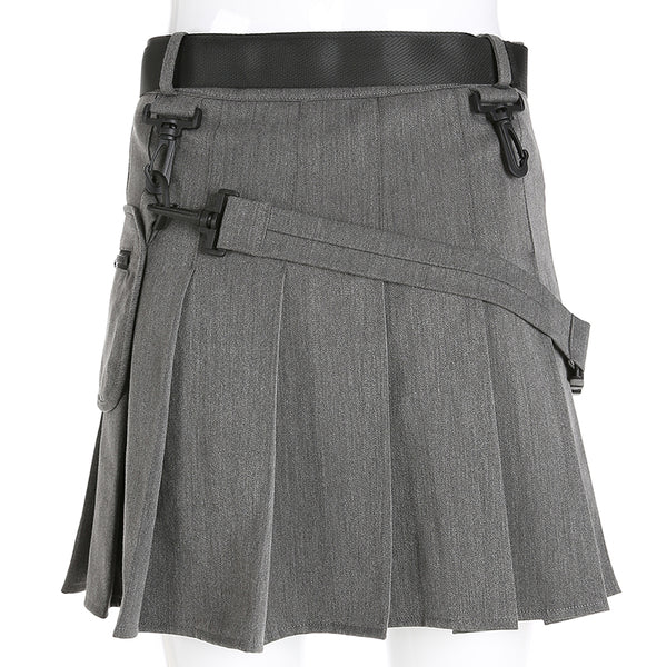 Y LABEL APPAREL: Precious Cargo Pleated Mini - Y LABEL APPAREL